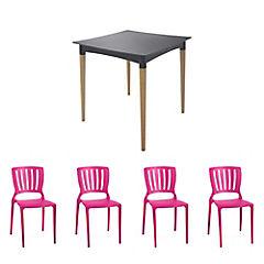 Juego de comedor Diana 4 sillas