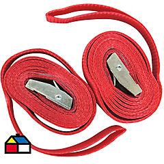 Set de cintas de tiro poliéster 2 unidades Rojo