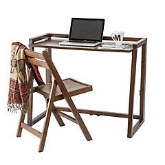 Set escritorio plegable + silla cappuccino