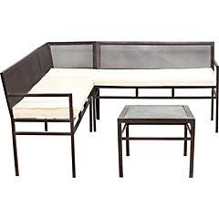 Seccional metal 70x112x40 cm con mesa de centro