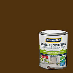 Esmalte sintético 1/4 gl semibrillo café