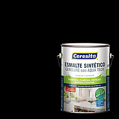 Esmalte sintético 1 galón semibrillo negro