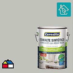 Esmalte sintético 1 galón semibrillo gris