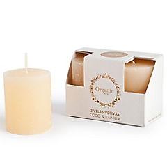 Set de velas coco vainilla 2 unidades Amarillo