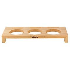 Base para mini cacerolas madera 5x16x42 cm