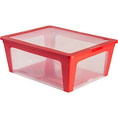 Caja 21 litros 44x17x45 cm rojo