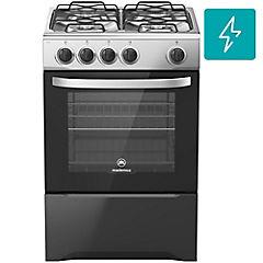 Cocina a gas 4 quemadores 66 litros negro