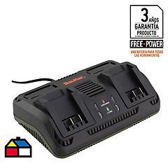 Cargador de batería doble 18 V 2000 mA