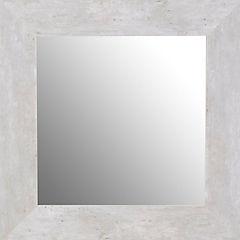 Espejo 80x80 cm concreto