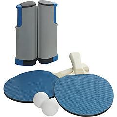 Kit de tenis para mesa pórtatil 8x26x26 cm Azul