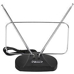 Antena de TV 23x3,5x13 cm con base