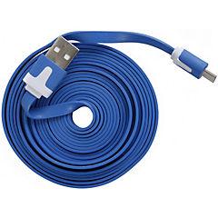 Cable flat USB a Micro USB V8 3.0m