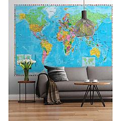 Fotomural Mapa Bandera 2,54x1,84 m