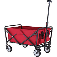 Carro plegable 91x77x46 cm metal rojo