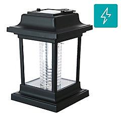 Farolito solar LED negro