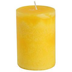 Vela pilar limón 10x7 cm amarillo