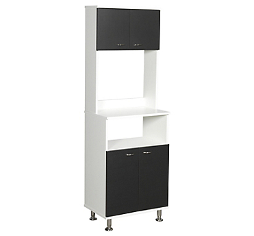 Mueble cocina 4 puertas 3 repisas 54X35X160 cm blanco&wengue ...