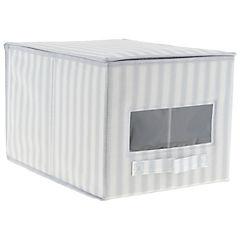 Caja con tapa gris 40x25x30 cm