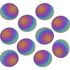 Botones autadhesivos decorativos de pared confetti 10 unidades rainbow