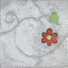 Pastelón jardín flor rojo