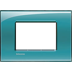 Placa rectangular 3 módulos verde