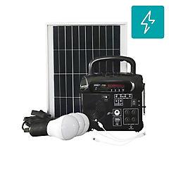 Kit energía solar radio y ampolleta
