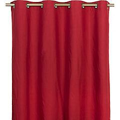 Cortina blackout con argolla 140x220 cm rojo