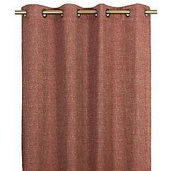 Cortina concordia con argolla 140x220 cm rojo