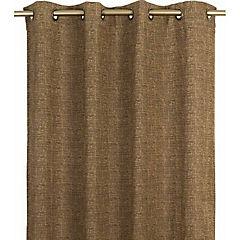 Cortina concordia con argolla 140x220 cm chocolate