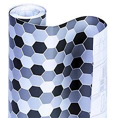 Papel Adhesivo Panal De Abeja Negro 2,7mt x 0,45 mt