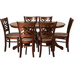 Juego de comedor Santader 6 sillas 150x90 cm