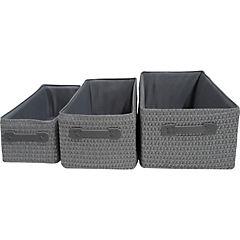 Set de 4 canastos 35/14 cm fibra gris