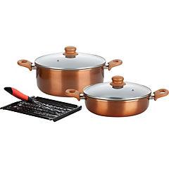 Batería de cocina 5 piezas aluminio cobre