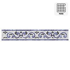 Listel Niza azul 5,7x35 cm