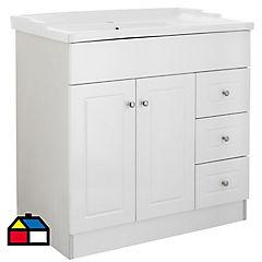 Mueble vanitorio 80x80x47 cm Blanco