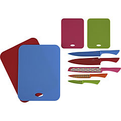 Set 5 cuchillos 4 tablas color