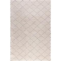Alfombra Rombos blanco y gris 200x290 cm