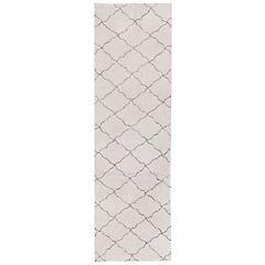 Alfombra Pas Rombos blanco y gris 70x240 cm