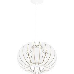Lámpara de colgar Acero y cristal satinado Stellato 2 Blanca