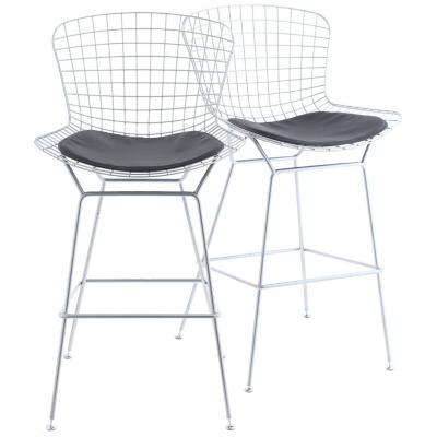 83659a9e734f Set de 2 sillas bar plata 54x57x102 cm - Homy - 3470660