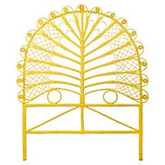 Respaldo para cama 120x105x5 cm amarillo
