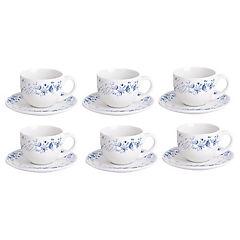 Juego de té 12 piezas azul