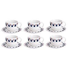 Juego de té Alessandra porcelana 12 piezas