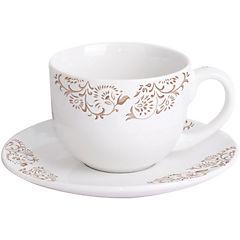 Juego de té 12 piezas beige