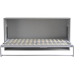Cama abatible 213x40x97 cm gris y blanco