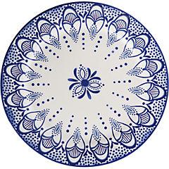 Plato redondo 27,6 cm azul