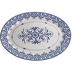 Plato ovalado 40,9x29,3 cm azul