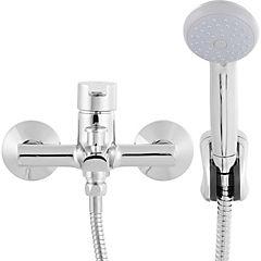Monomando para tina y ducha cromado