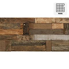 Malla 30x60 cm madera bote blanco rústico