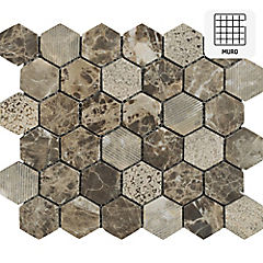 Malla 30x30 cm hexagonal empalme mix